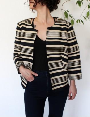 Vintage 60lar Çizgili Ceket