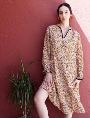 Vintage 70ler Çiçekli Elbise