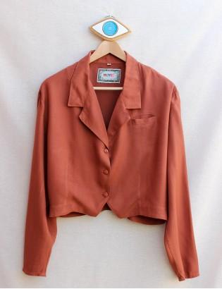 Vintage Pamuklu Kumaş Gömlek