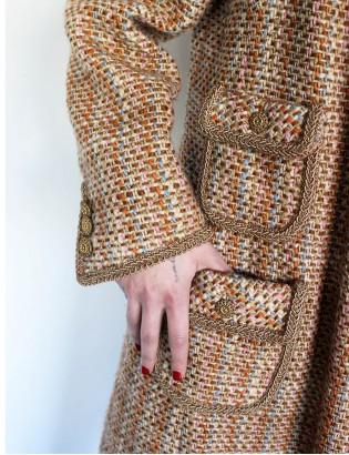 Vintage Özel Dikim Yün Palto