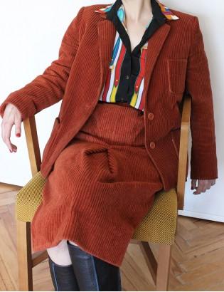 Vintage 70ler Fitilli Kadife Takım
